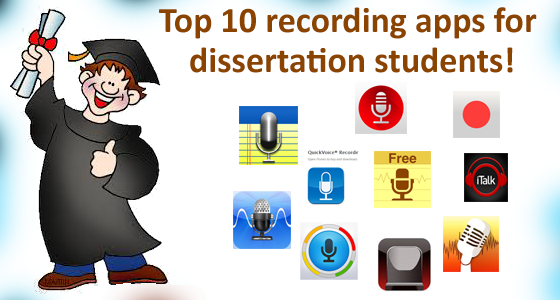 top 10 recording apps for dissertation students