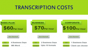 cost for transcription